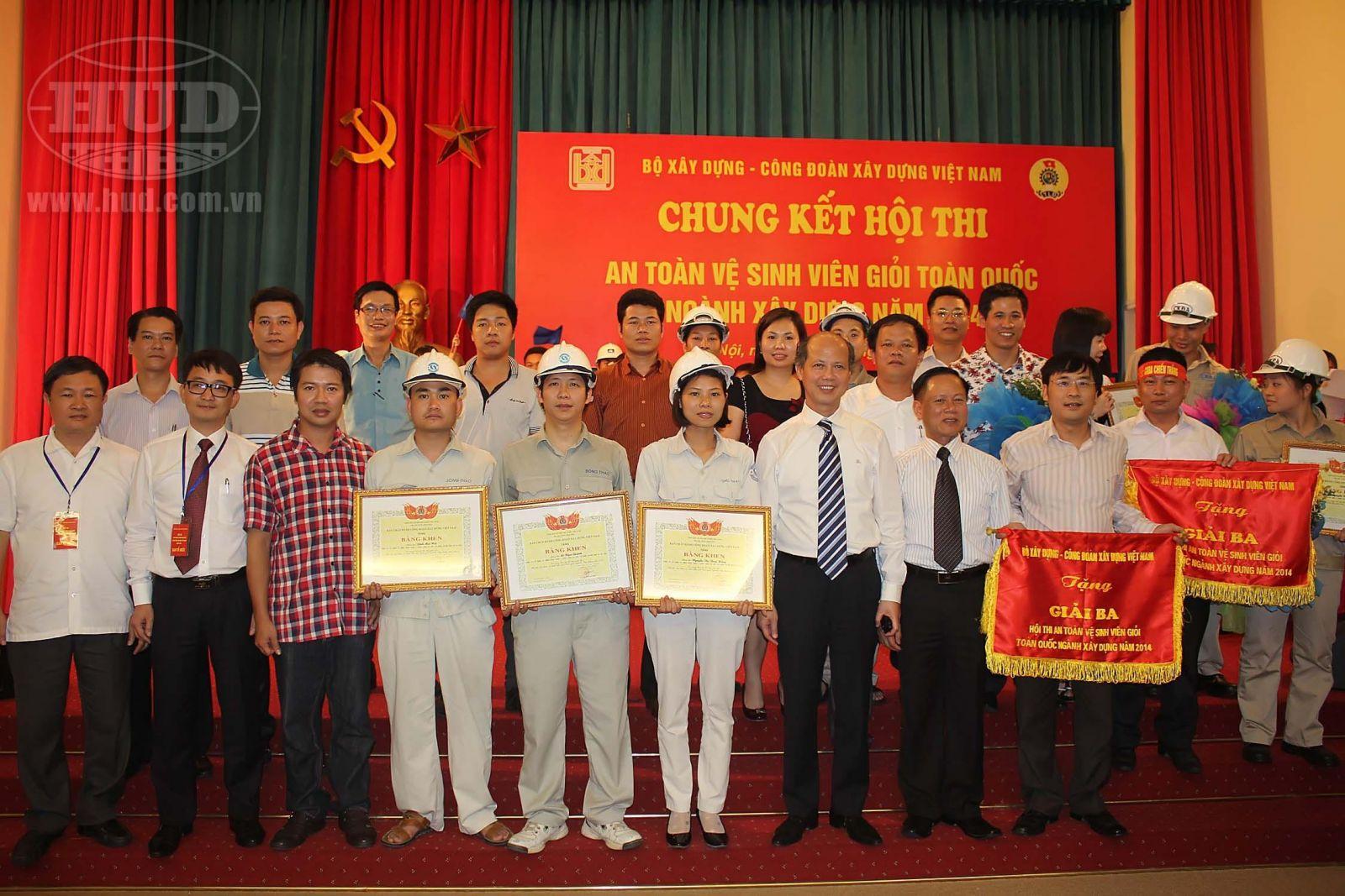 """Chung kết """"Hội thi An toàn vệ sinh viên giỏi năm 2014"""", Công ty CP Xi măng Sông Thao - Tổng công ty HUD đạt giải Ba"""