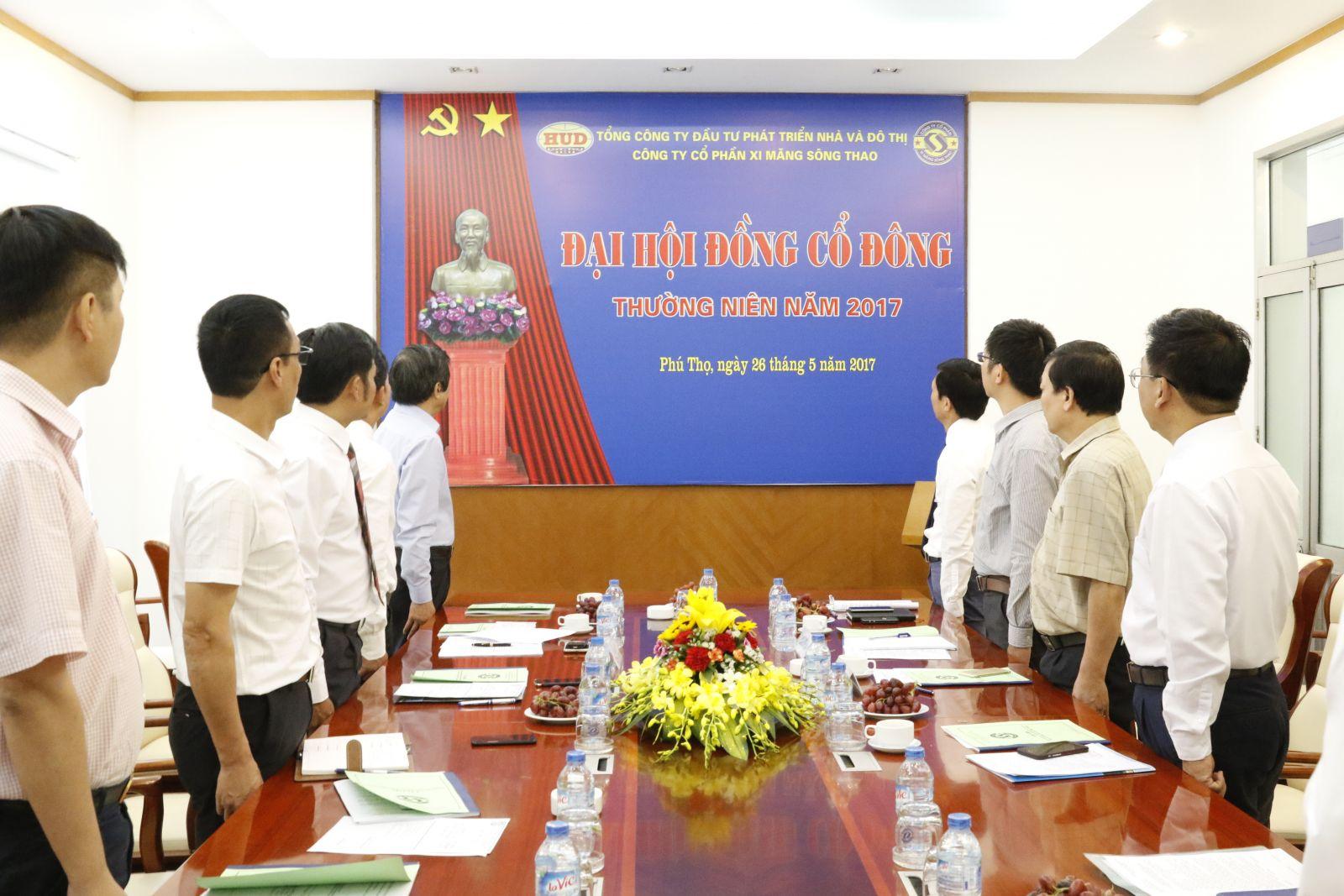 Công ty cổ phần xi măng Sông Thao tổ chức thành công Đại hội đồng cổ đông thường niên năm 2017