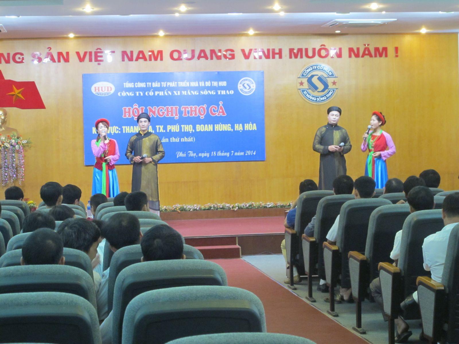Công ty CP Xi măng Sông Thao: Tổ chức Hội nghị thợ cả khu vực: Thanh Ba, TX. Phú Thọ, Đoan Hùng, Hạ Hòa lần thứ nhất năm 2014